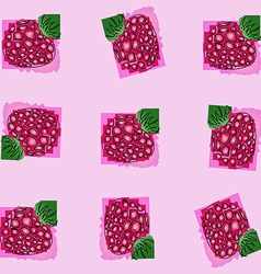 Berry raspberry the pattern of schematically drawn vector
