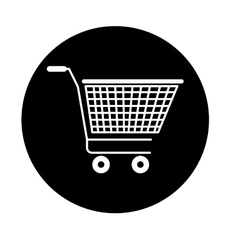 Shopping cart isolated icon design vector
