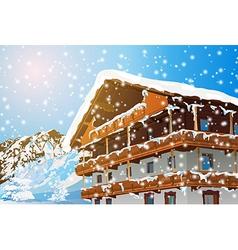 Alps house vector