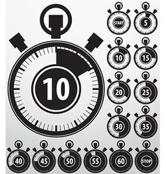 Analog timer icons set vector image
