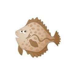 Cartoon flatfish vector