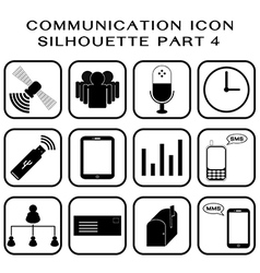Communication icon part 4 vector image
