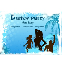 dance party blue background vector image vector image