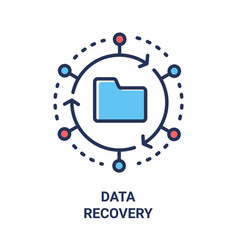 Data recovery - modern line design single vector