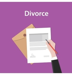 Divorce concept a business man hand vector