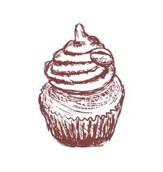 Doodle coffee cupcake vector