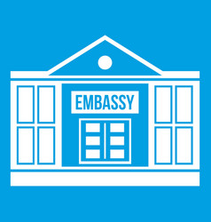 embassy icon white vector image