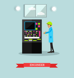 Factory engineer in flat style vector