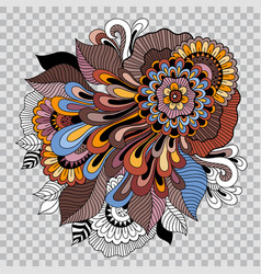floral tattoo artwork on transparent background vector image vector image