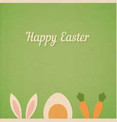 happy easter card background vector image