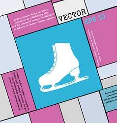 Ice skate icon sign modern flat style for your vector