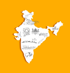 Indian map vector