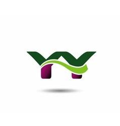Letter y and y monogram logo vector