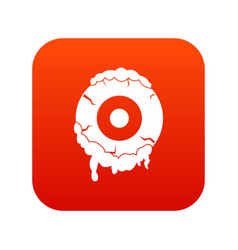 scary eyeball icon digital red vector image