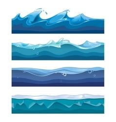 Seamless ocean sea water waves vector