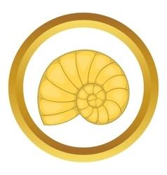 Shell icon vector