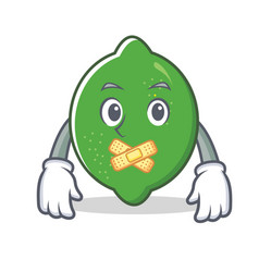 silent lime mascot cartoon style vector image
