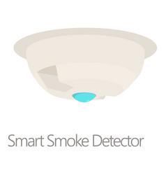Smart smoke detector icon cartoon style vector