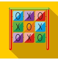 Tic tac toe game on a playground icon vector