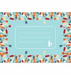 Transparency Cocktail menu design background vector image