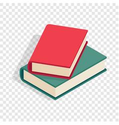 two books isometric icon vector image