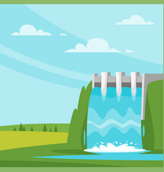 Water-power plant vector
