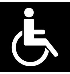 White disabled icon vector