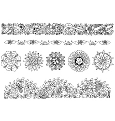 zentangl drawing ornament vector image vector image