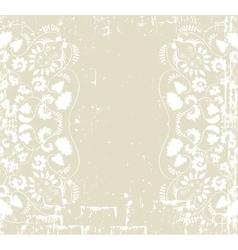 ornament floral background vector image