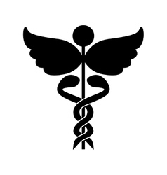 Asclepius rod icon image vector