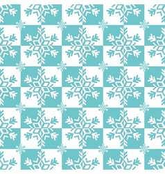 Blue and white snowflakes vector
