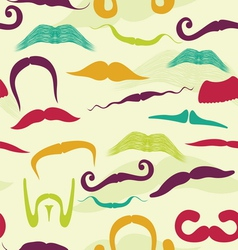 Seamless mustache pattern vector