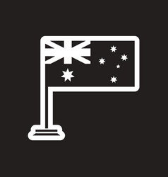 Stylish black and white icon flag of australia vector
