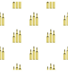Bullet ammunition pattern flat vector
