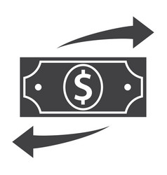 Funds transfer icon vector