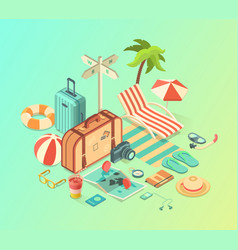 Travel assets pack vector