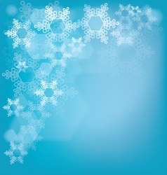 Frosted glass background with snowflakes vector