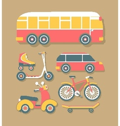 Transport for cities vector