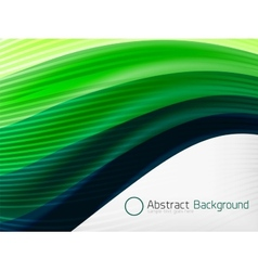 Green eco abstract line composition vector image