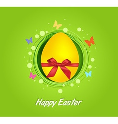 Easter yellow egg gift card vector