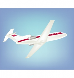 Big passenger plane in sky vector