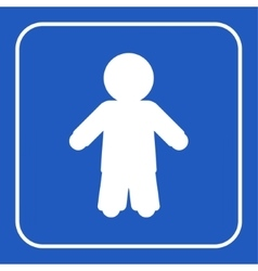 Blue information sign - man vector