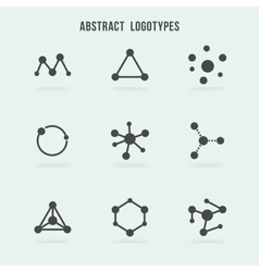 Abstract hipster logo set vector