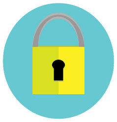 Padlock icon label vector