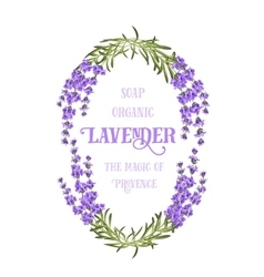 The lavender elegant card vector