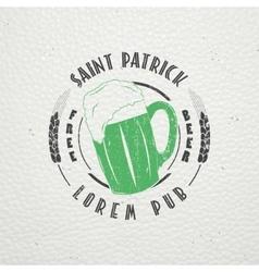 Saint patricks day luck of the irish detailed vector