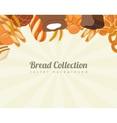 Bread collections food background with bread vector