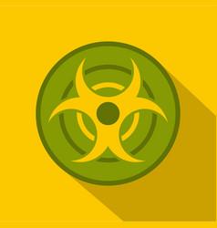 biohazard symbol icon flat style vector image