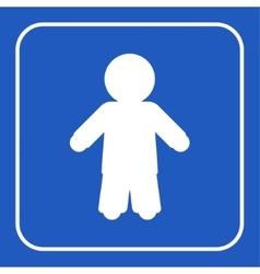 blue information sign - man vector image