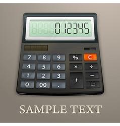 Calculator on brown vector